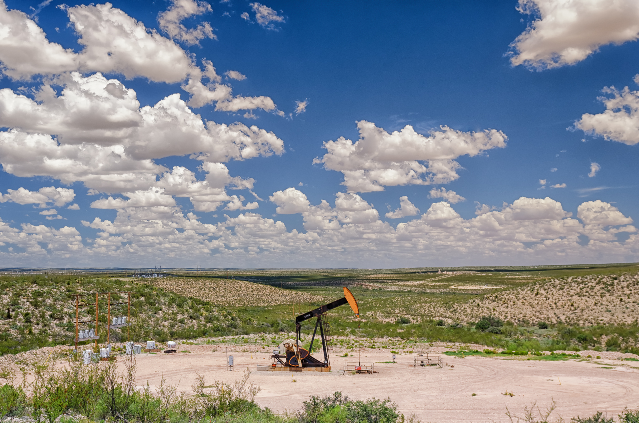 This Is What A Lot Of West Texas Looks Like U2013 Mostly Flat, Amazing Blue  Skies, And Oil Wellsu2026 Part 84