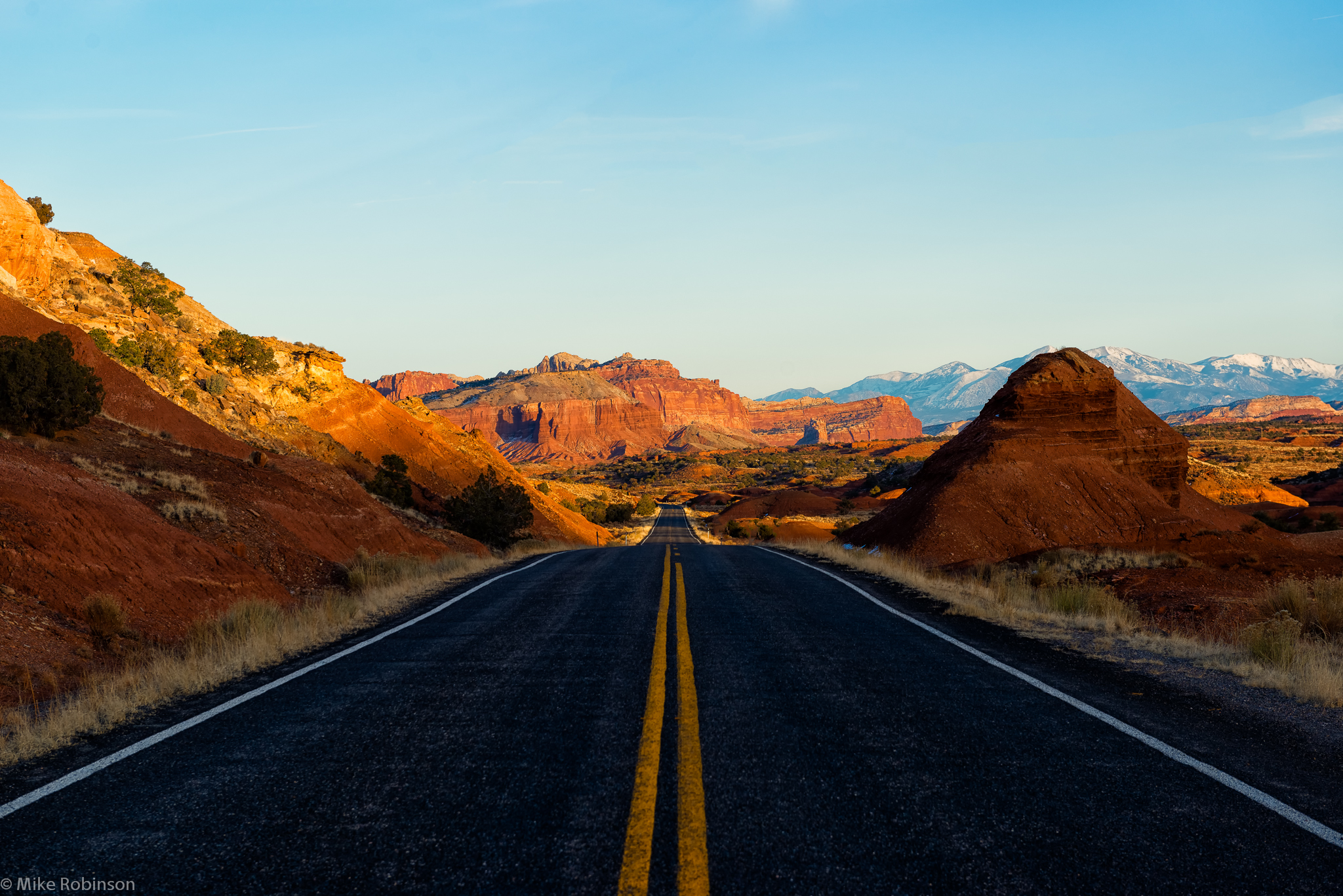 Desert highway road