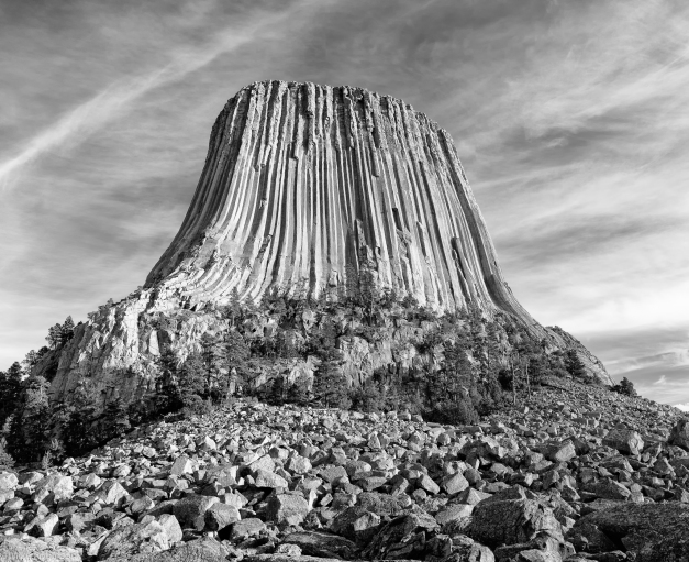 Devils_Tower_Base_BW
