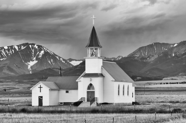 Montana_Country_Church_2_BW