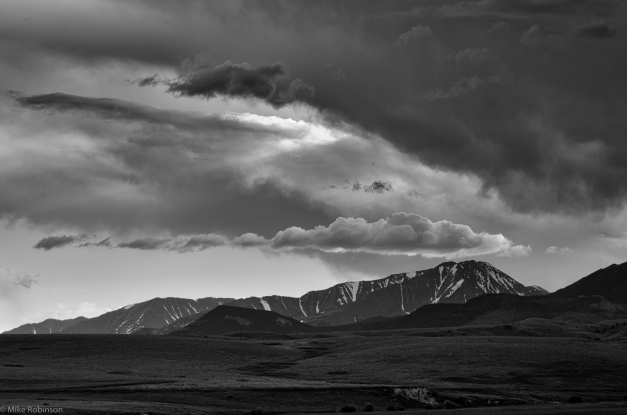 Montana_Crazy_Mountains_Clouds_BW