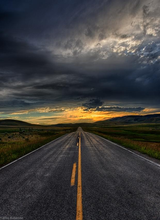 Montana_Evening_Road