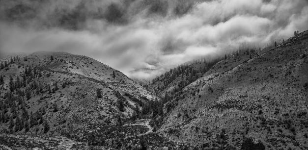 Cloudy_Cascade_Foothills_BW