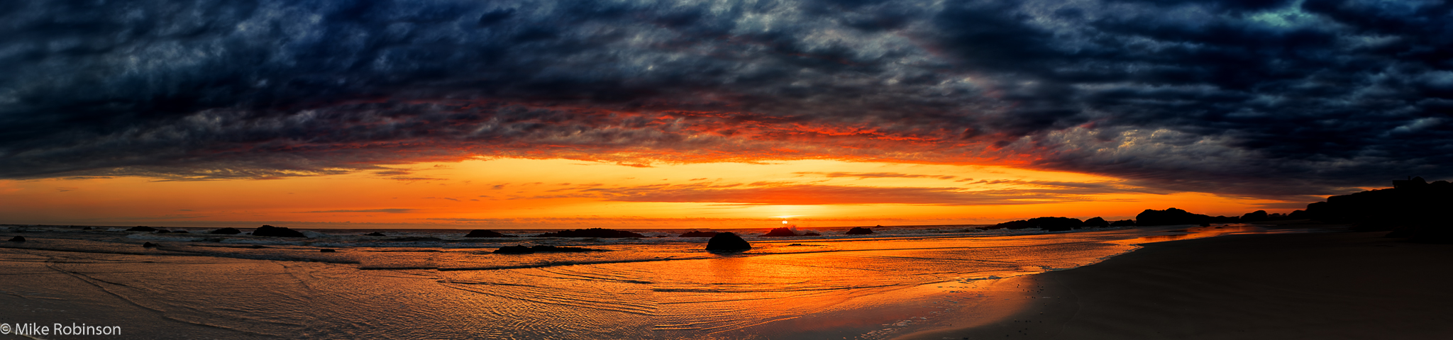 Pano_Seal_Rock_Beach_Sunset_6