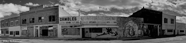 Pano_Shoshoni_Downtown_BW
